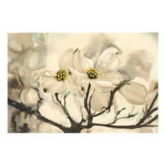 Dogwood Watercolor Outdoor Canvas Art,