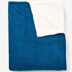 BH Studio Sherpa Microfleece Blanket, SEASIDE BLUE