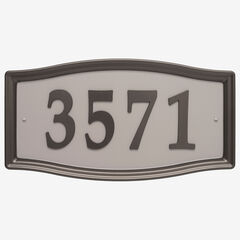 Easy Street Address Sign, BRONZE