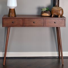 Mid-Century 3-Drawer Console Table by J. Hunt,