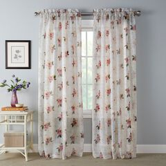 BH Studio Printed Voile Rod-Pocket Panel, ANNA
