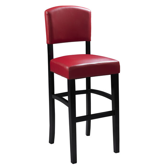 "Monaco Stool 30""H, ESPRESSO RED"