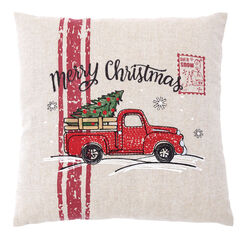 Retro Christmas Accent Pillows, TRUCK