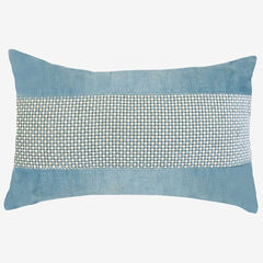 Panne Velvet Decorative Pillow, MINERAL BLUE