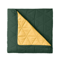 BH Studio Triangle Reversible Quilt, EVERGREEN MAIZE