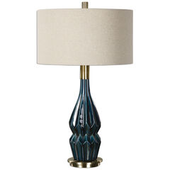 Prussian Blue Ceramic Lamp,