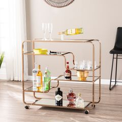 Maylynn Art Deco Mirrored Bar Cart,
