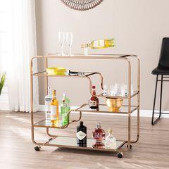 Maylynn Art Deco Mirrored Bar Cart,