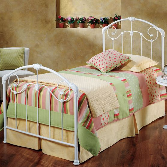 """Full Bed with Bed Frame, 76""""Lx54""""Wx50""""H, WHITE"""