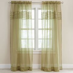 BH Studio Pleated Voile Rod-Pocket Panel, SAGE