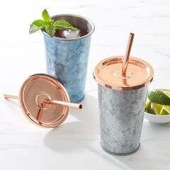 Metal Tumbler with Copper Lid,