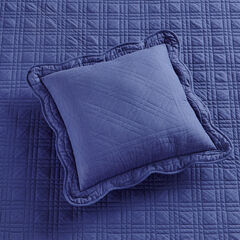 "Florence 16"" Square Pillow, NAVY"