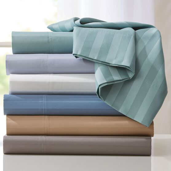 600-TC 6-Pc. Striped Cotton Blend Sheet Set ,