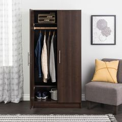 "Elite 32"" Wardrobe Cabinet, Espresso,"