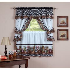 Mason Jars Window Curtain Set,