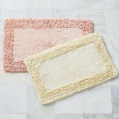 Ruffle Border Bath Rug Collection,