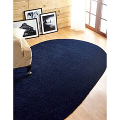 Better Trends Chenille Solid Braid Collection Reversible Indoor Area Utility Rug in Vibrant Colors, Oval,