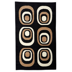 Capri Black/Tan 5' x 7' Area Rug,