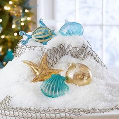 Coastal Ornaments, Set of 5,