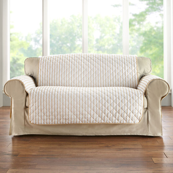 Striped Loveseat Protector,