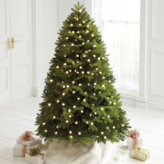 6' Mountain Pine Pre-Lit Tree , GREEN