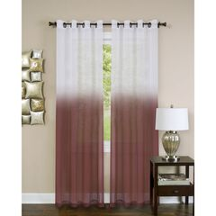 Essence Window Curtain Panel, BURGUNDY