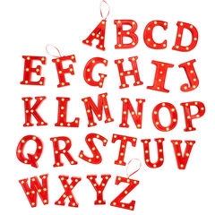 Pre-Lit Initial Ornament,