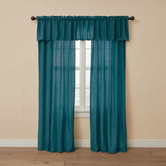 BH Studio Cotton Canvas Rod-Pocket Valance, PEACOCK