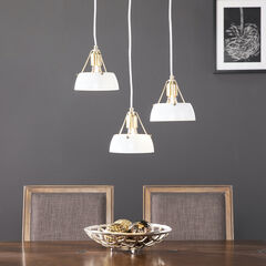 Renmarco Contemporary 3-Light Cluster Penant,