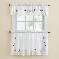 Winter Rose Tier Pair and Valance,