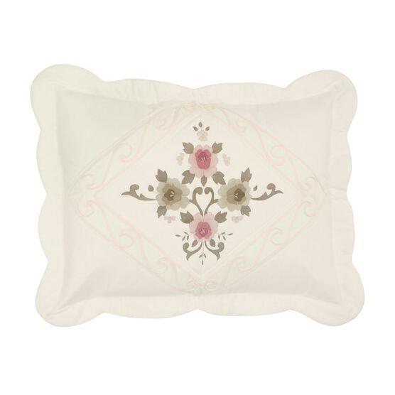 Ava Embroidered Cotton Sham,