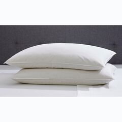 2-Pack Quilless Feather-Filled Pillows,