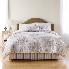 Cabbage Rose 6-Pc. Comforter Set, LAVENDER WHITE