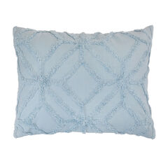 Sam Open Geo Chenille Sham, POWDER BLUE