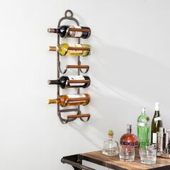 Palma Industrial Style Wall Mount Wine Rack,