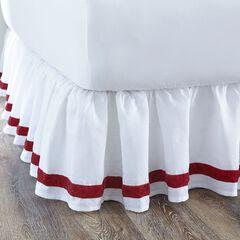 Velvet Trim Bedskirt,