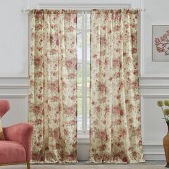 Antique Rose Curtain Panel Pair by Greenland Home Fashions,