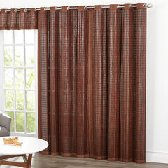 Bamboo Grommet Panel, MAHOGANY BROWN