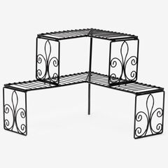 Scroll 2-Tier Corner Shelf,