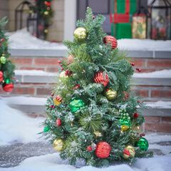 3' Pre-Lit Krystal Kringle  Pathway Tree ,