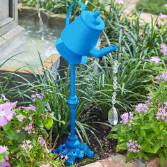 Metal Watering Can with Water Droplet Beads,