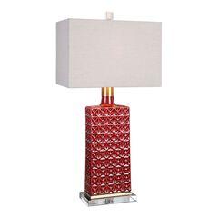 Alimos Glazed Red Ceramic Lamp,