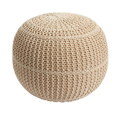 BH Studio® Hand-Knitted Ottoman Pouf,