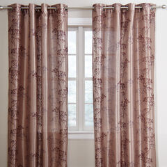 Meadow Faux Silk Embroidered Grommet Panel,