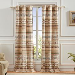 Phoenix Tan Curtain Panel Pair by Barefoot Bungalow,