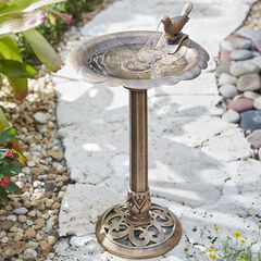 Levine Resin Bird Bath Fountain,