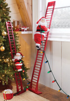 Animated Musical Climbing Santa,