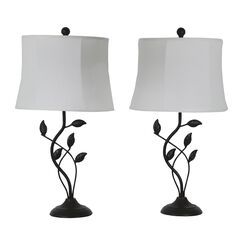 Organic Leaf 2-Pack Table Lamps by J. Hunt, PAINTED BRONZE