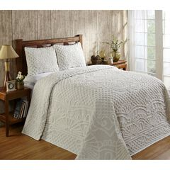 Trevor Collection Tufted Chenille Bedspread Set by Better Trends,