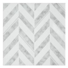 Retro 12x12 Self Adhesive Vinyl Floor Tile - Chevron - 20 Tiles/20 sq. ft.,
